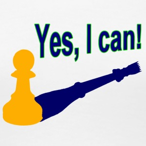 Weiß Yes, I can! 2 T-Shirts - Frauen Premium T-Shirt