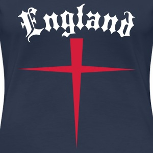 Navy OLD ENGLAND T-Shirts - Frauen Premium T-Shirt