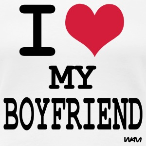 Wit i love my boyfriend by wam T-shirts - Vrouwen Premium T-shirt