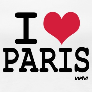 Hvit i love paris by wam T-skjorter - Premium T-skjorte for kvinner