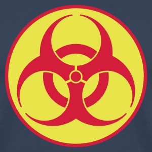 Navy scuro biohazard 2 color IT T-shirt - Maglietta Premium da uomo