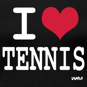 Nero i love tennis by wam T-shirt - Maglietta Premium da donna