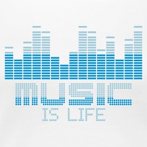 Blanc equalizer music is life T-shirts - T-shirt Premium Femme