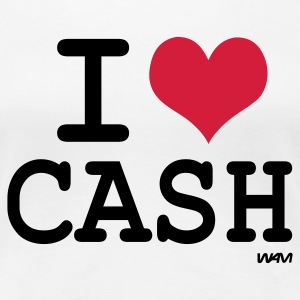 Hvit i love cash by wam T-skjorter - Premium T-skjorte for kvinner