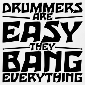 Beige Drummers are easy T-Shirt  - Herre-T-shirt
