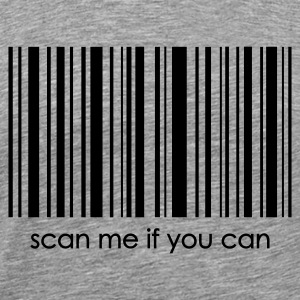 Grau meliert Barcode scan me if you can 2 T-Shirts - Männer Premium T-Shirt