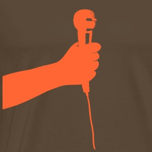 Brown microphone (orange) Men's T-Shirts - Men's Premium T-Shirt
