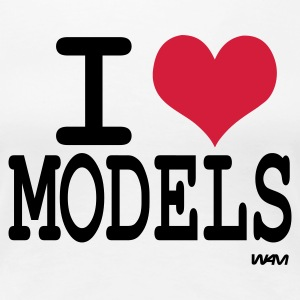 Weiß i love models by wam T-Shirts - Frauen Premium T-Shirt