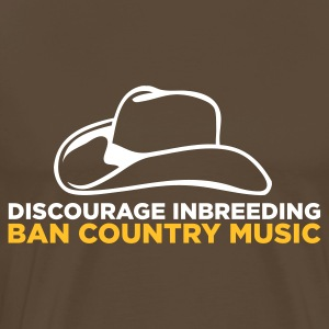 Ban Country Music 2 (ENG, 2c) - Premium-T-shirt herr
