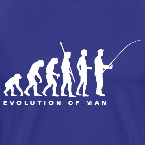 Royalblau evolution_fishing_b T-Shirts - Männer Premium T-Shirt