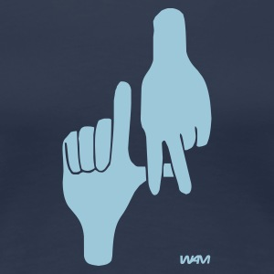 Navy los angeles hand sign by wam T-Shirts - Frauen Premium T-Shirt