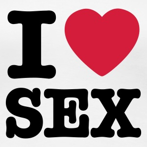 White i love sex EN Women's T-Shirts - Women's Premium T-Shirt