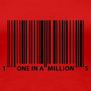 barcode_one_in_a_million Tee shirts - T-shirt Premium Femme