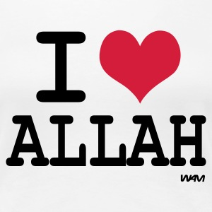 Weiß i love allah by wam T-Shirts - Frauen Premium T-Shirt