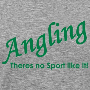 Angling theres no sport like it Fishing T-Shirt - Green Print - Men's Premium T-Shirt