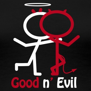 Noir Good and evil T-shirts - T-shirt Premium Femme