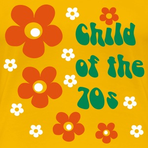 Gul Child of the 70s T-shirts - Dame premium T-shirt