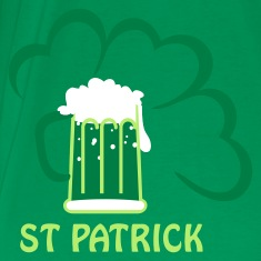 Moss green st patrick beer (3c) Men's T-Shirts