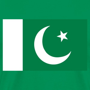 Khaki green Flag of Pakistan Men's T-Shirts - Men's Premium T-Shirt