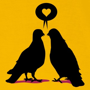 Gelb Love saying Doves - Two  Birds_2c T-Shirts - Männer Premium T-Shirt