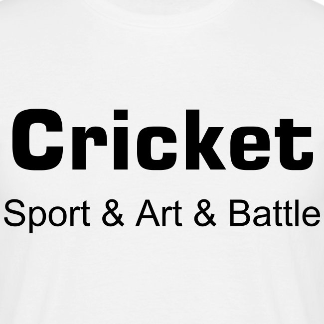 Cricket Sport and art and battle