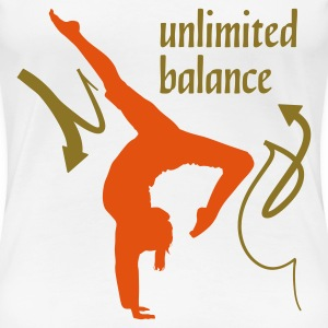 Wit Unlimited Balance 2C T-shirts - Vrouwen Premium T-shirt