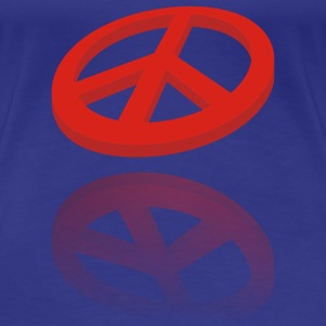PEACE 3D - Frauen Premium T-Shirt