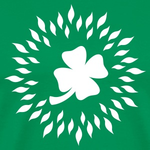 Bottlegreen Glückklee / four leaved clover (1c) T-Shirts - Männer Premium T-Shirt