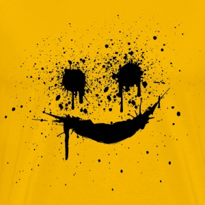 Yellow smiley smilie lachendes gesicht Men's T-Shirts - Men's Premium T-Shirt