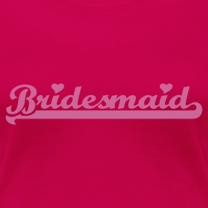 Light pink Bridesmaid T-shirts - Dame premium T-shirt