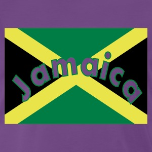 Indigo Jamaica on flag T-shirts - Mannen Premium T-shirt