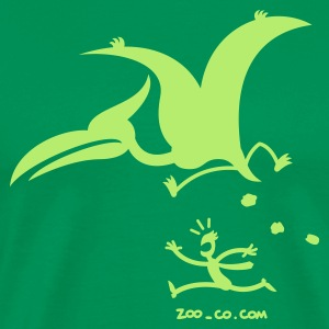 Kelly green Catastrophicus Pterodactylus Men's T-Shirts - Men's Premium T-Shirt