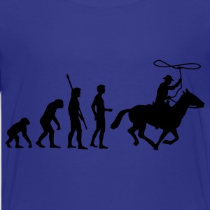 Türkis evolution_cowboy Kinder T-Shirts - Teenager Premium T-Shirt