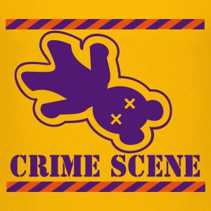 Yellow Teddy-Mord / crime scene teddy (2c) Kids' Shirts - Teenage Premium T-Shirt