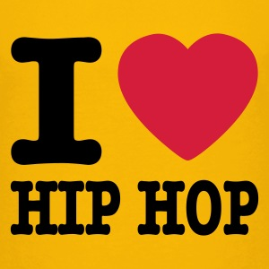Gul I love hiphop / I heart hiphop Børne T-shirts - Teenager premium T-shirt