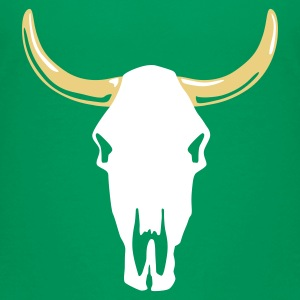 Kelly green cow_skull_b_2c_black Kinder T-Shirts - Teenager Premium T-Shirt