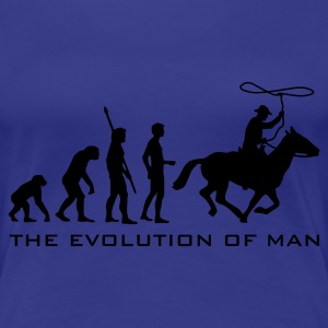 evolution_cowboy_b T-Shirts - Women's Premium T-Shirt
