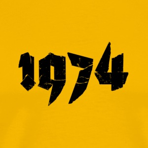 Yellow Jahr 1974 Men's T-Shirts - Men's Premium T-Shirt