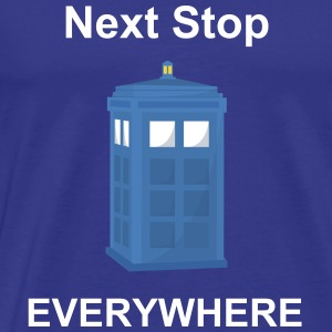 Sky Blue Phone Box Men's T-Shirts - Men's Premium T-Shirt