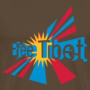 Noble brown free_tibet Men's T-Shirts - Men's Premium T-Shirt