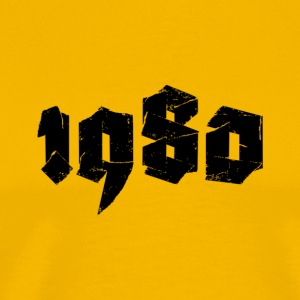 Yellow Jahr 1980 Men's T-Shirts - Men's Premium T-Shirt