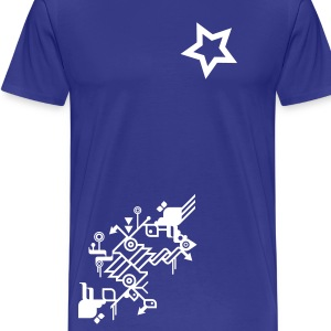 NiceDay Star White - T-shirt Premium Homme