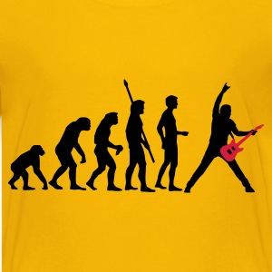 Yellow evolution_guitar_a_2c Kids' Shirts - Teenage Premium T-Shirt