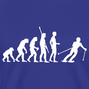 Royal blue evolution_ski Men's T-Shirts - Men's Premium T-Shirt