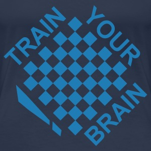 Jeansblau Train your brain 2 Farben T-Shirts - Frauen Premium T-Shirt