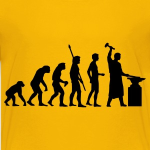 Yellow evolution_schmied_b Kids' Shirts - Teenage Premium T-Shirt