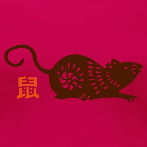 year of the rat (chinese zodiac) - Frauen Premium T-Shirt