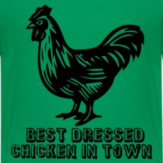 Kelly green Best Dressed Chicken Kids' Shirts