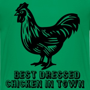 Kelly green Best Dressed Chicken Kids' Shirts - Teenage Premium T-Shirt