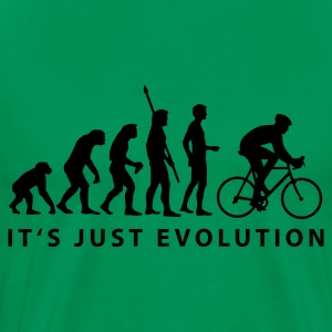Moss green evolution_radfahrer_b Men's T-Shirts - Men's Premium T-Shirt